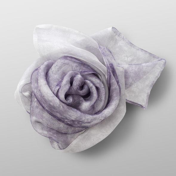 organza- silk scarf Breath