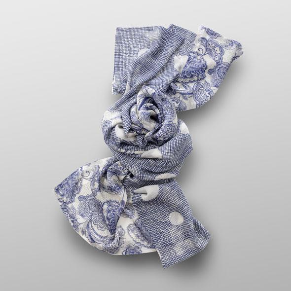 Silk-crêpe scarf FANNY