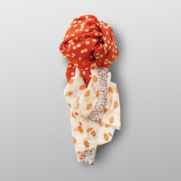 Silk-cotton foulard TANJA