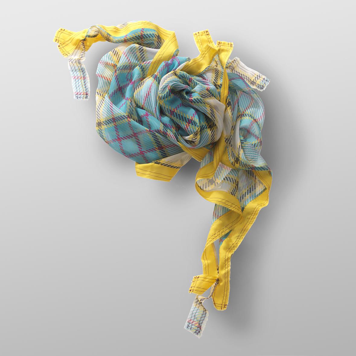 silk crêpe carré COTE D'AZUR