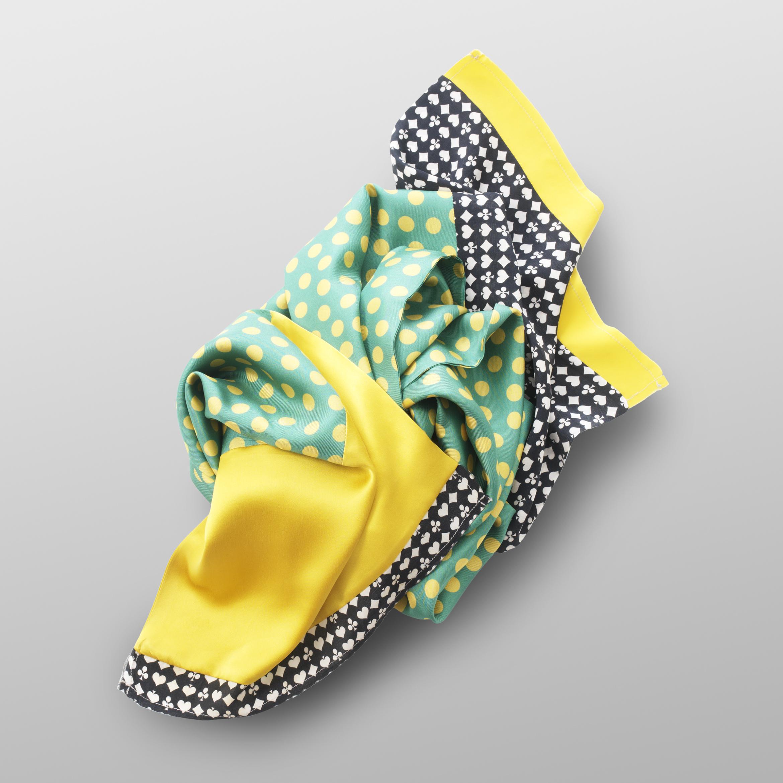 Plaid scarf of silk-twill CASINO