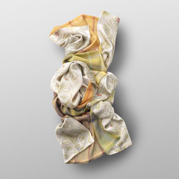 Silk scarf ANGEL