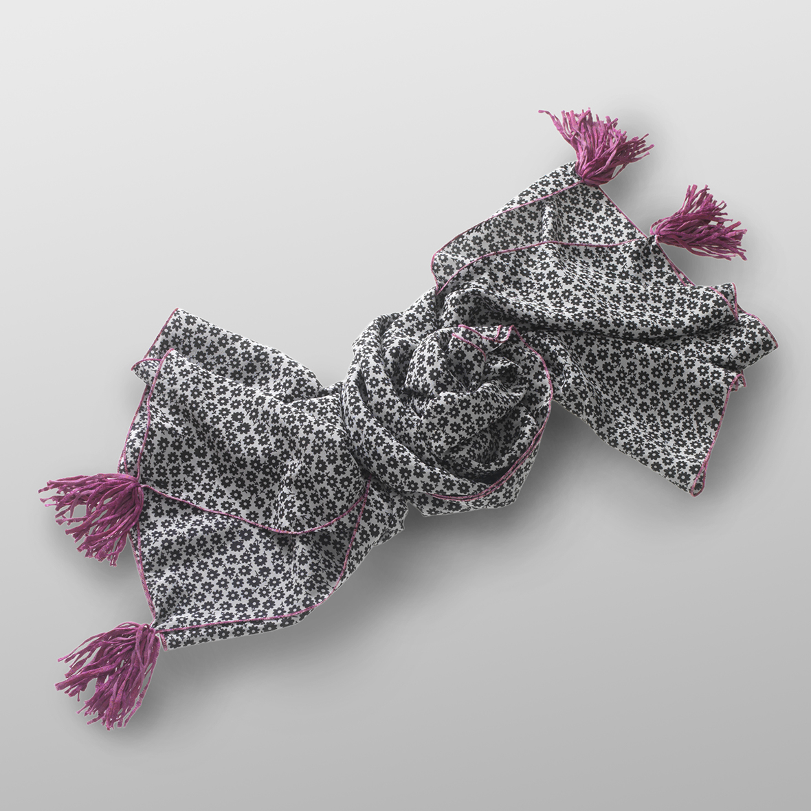silk crêpe carré LITTLE FLORY