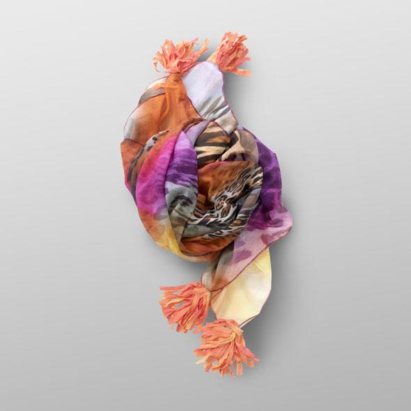 Cotton foulard LENA