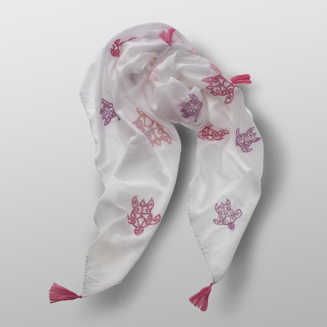 cotton carré TURTLE ROSE