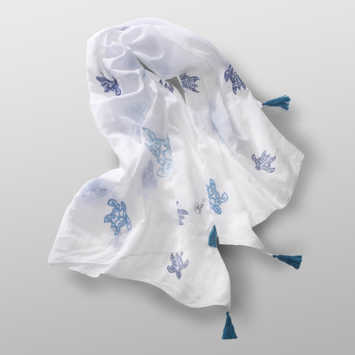 cotton carré BLUE TURTLE