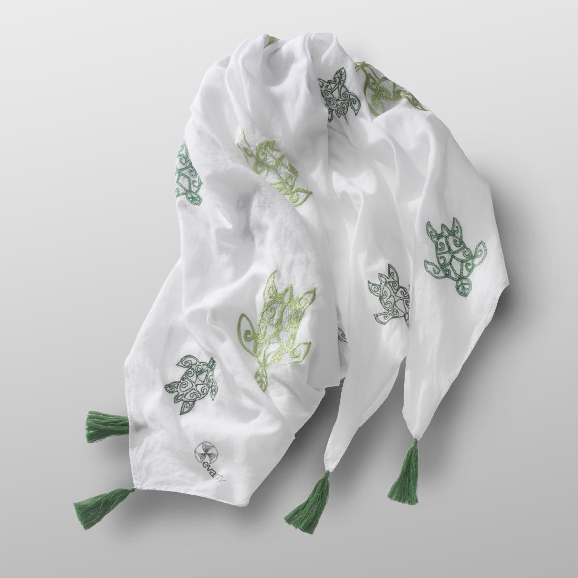 cotton carré GREEN TURTLE