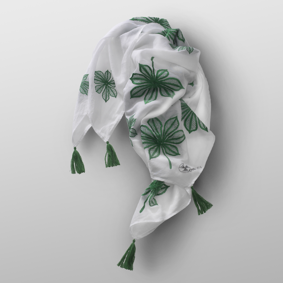 cotton carré LEAVES-G