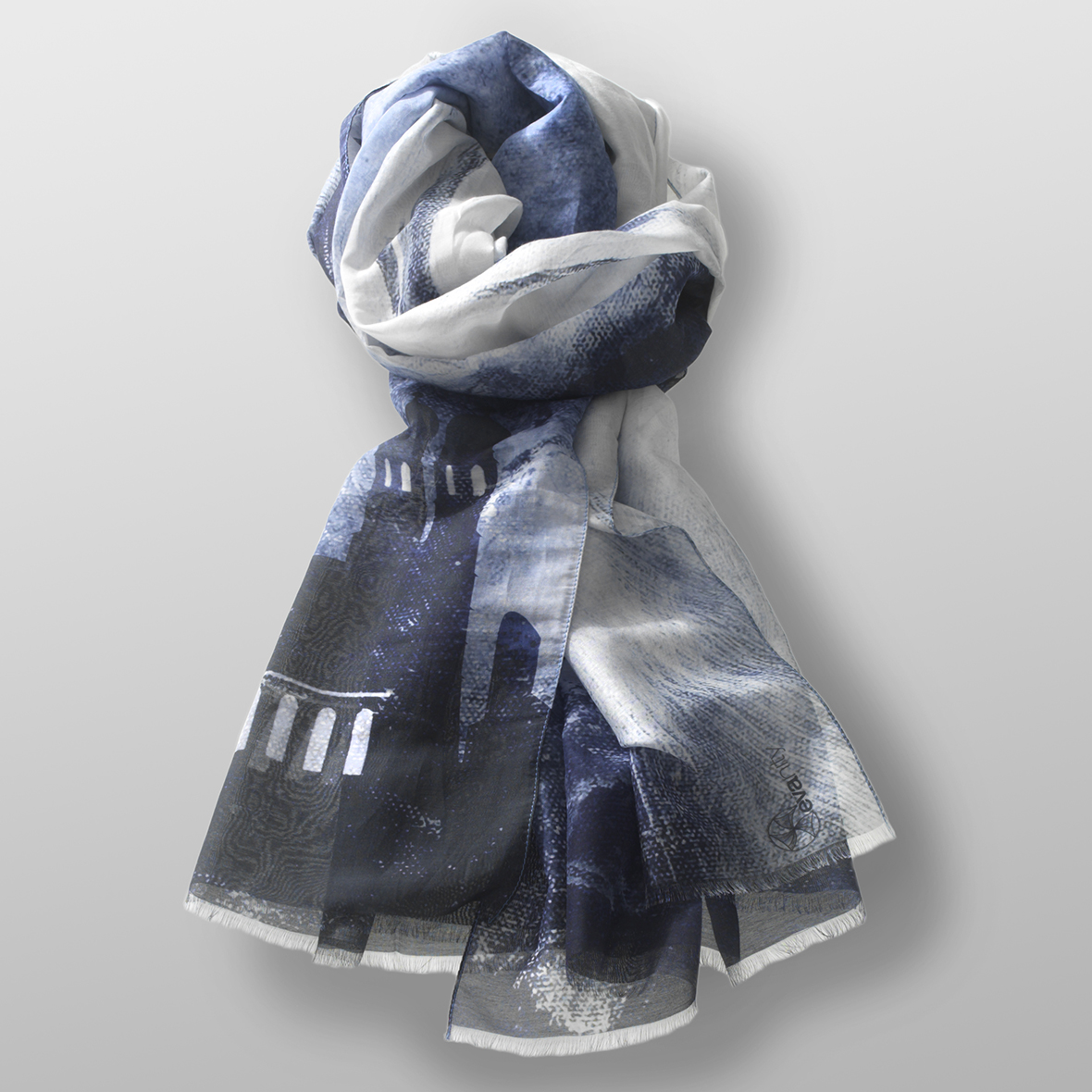 cotton- silk scarf LEO-DB