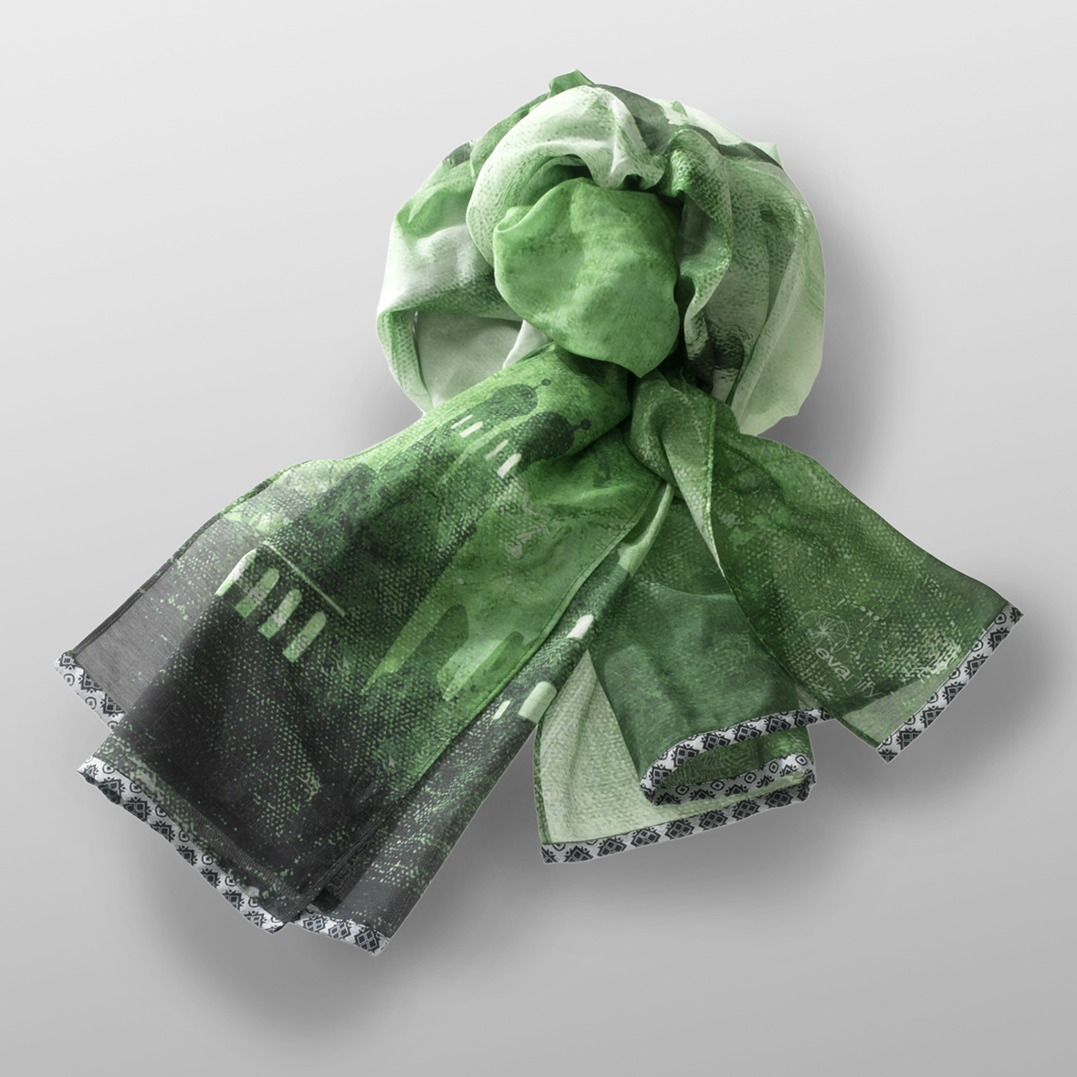 cotton- silk scarf LEO-G