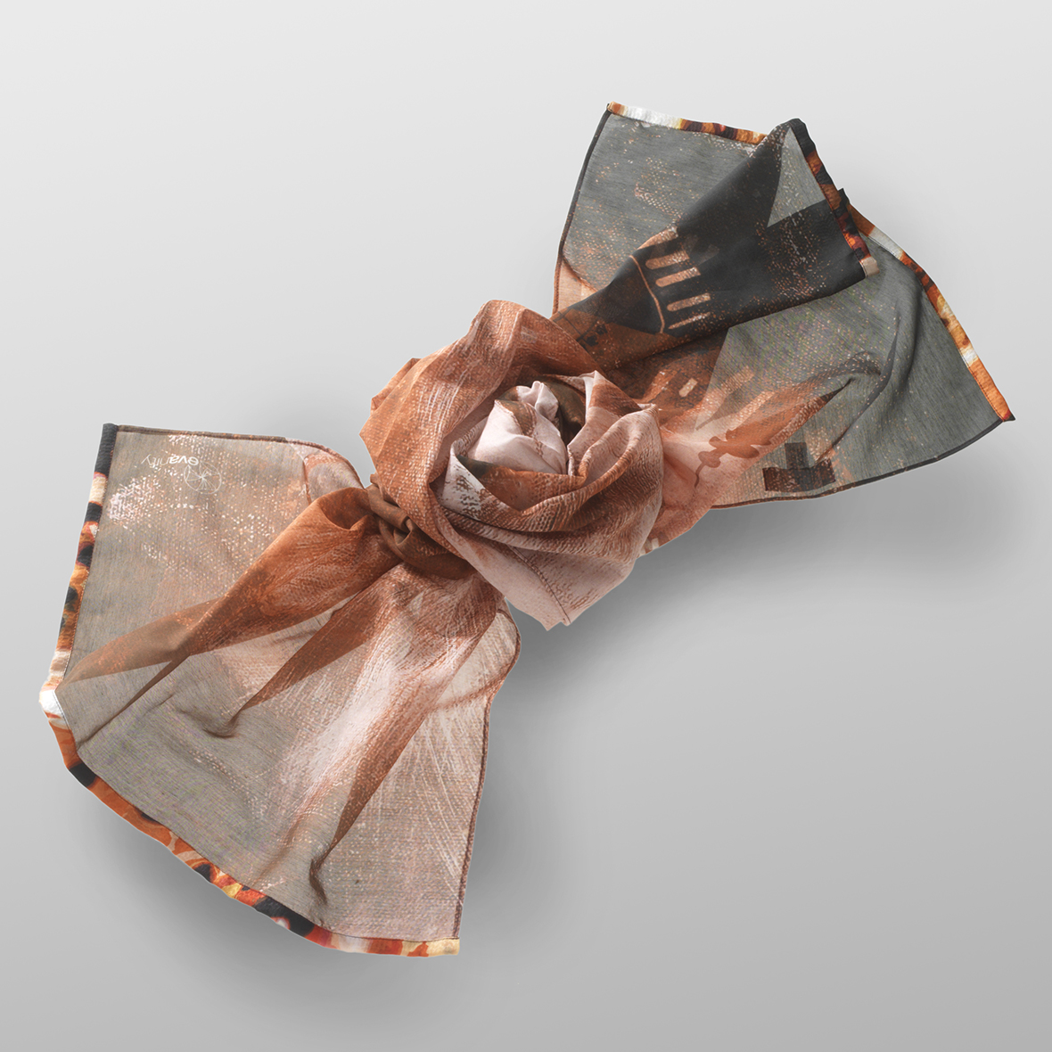 cotton- silk scarf LEO- R