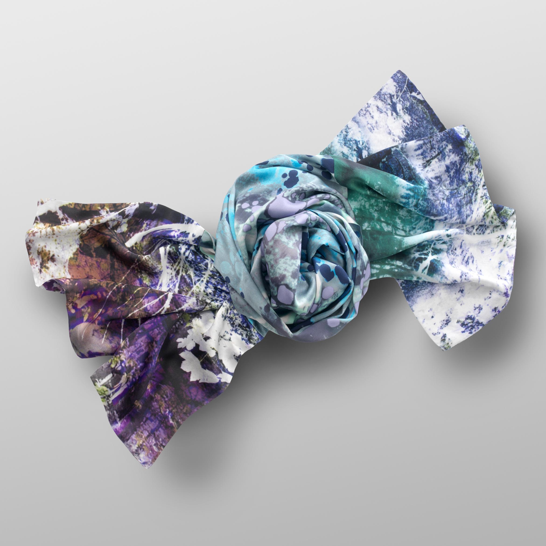 silk satin scarf AQUARIUS