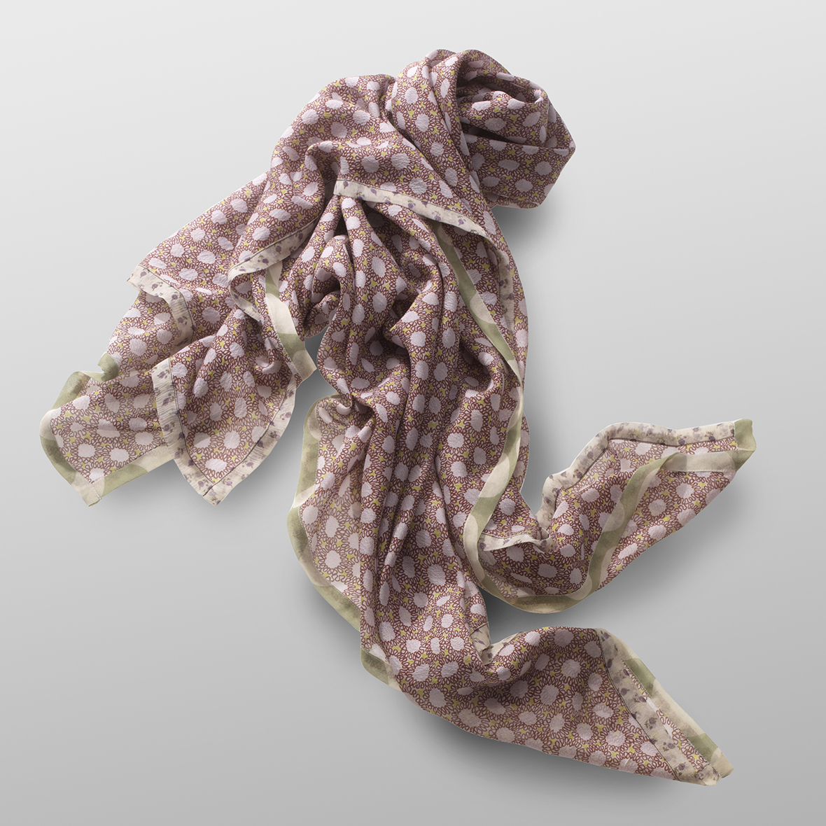 silk crêpe carré MIMOSE