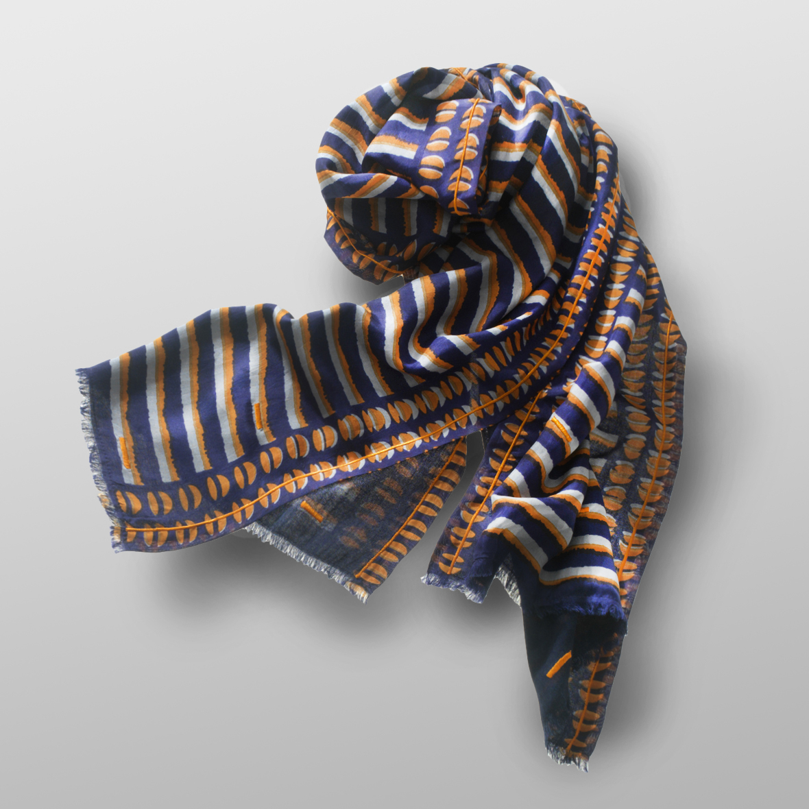 silk-wool scarf RISA-B