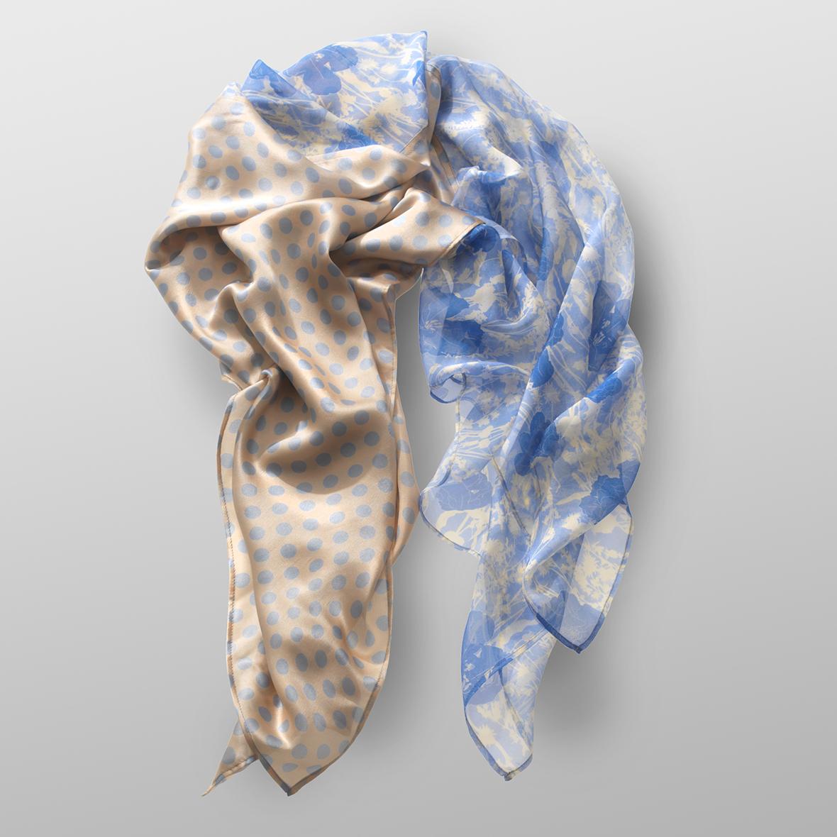 silk carré FLOWERS&DOTS